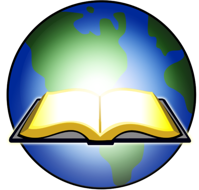 Image: Open Bible Glowing before Earth.