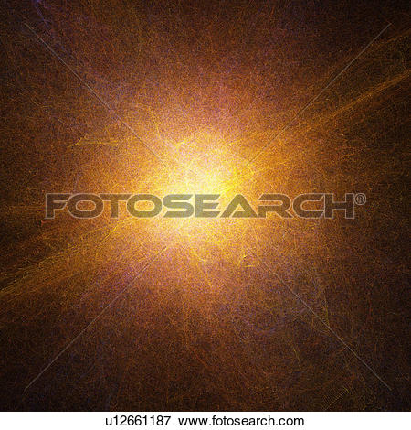 Stock Illustration of Orange abstract glow, computer artwork.