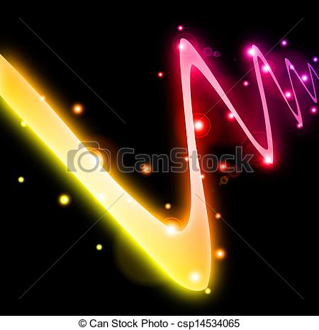 Clip Art Vector of Abstract curved glow line. Vector illustration.