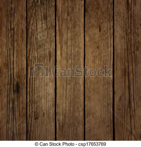 Clip Art Vector of Dark wood board vector background csp17653769.