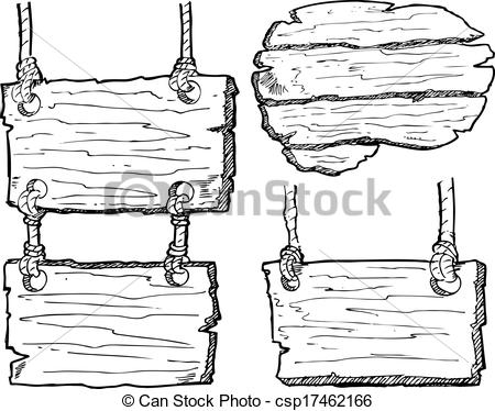 Clip Art Vector of grunge wooden plank isolated on white.
