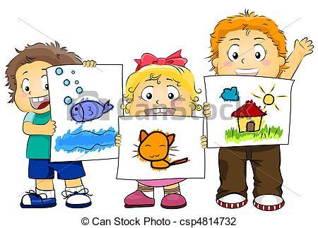 Clip Art of Kid Artworks.