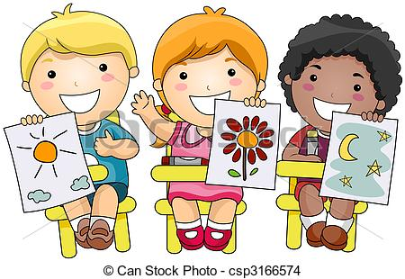 Drawing of Children Art.