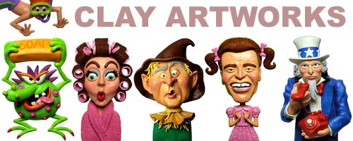 Clay Artworks Banner Ad from http://www.IllustrationsOf.com.