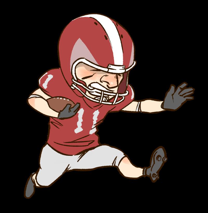 Football player clip arty.