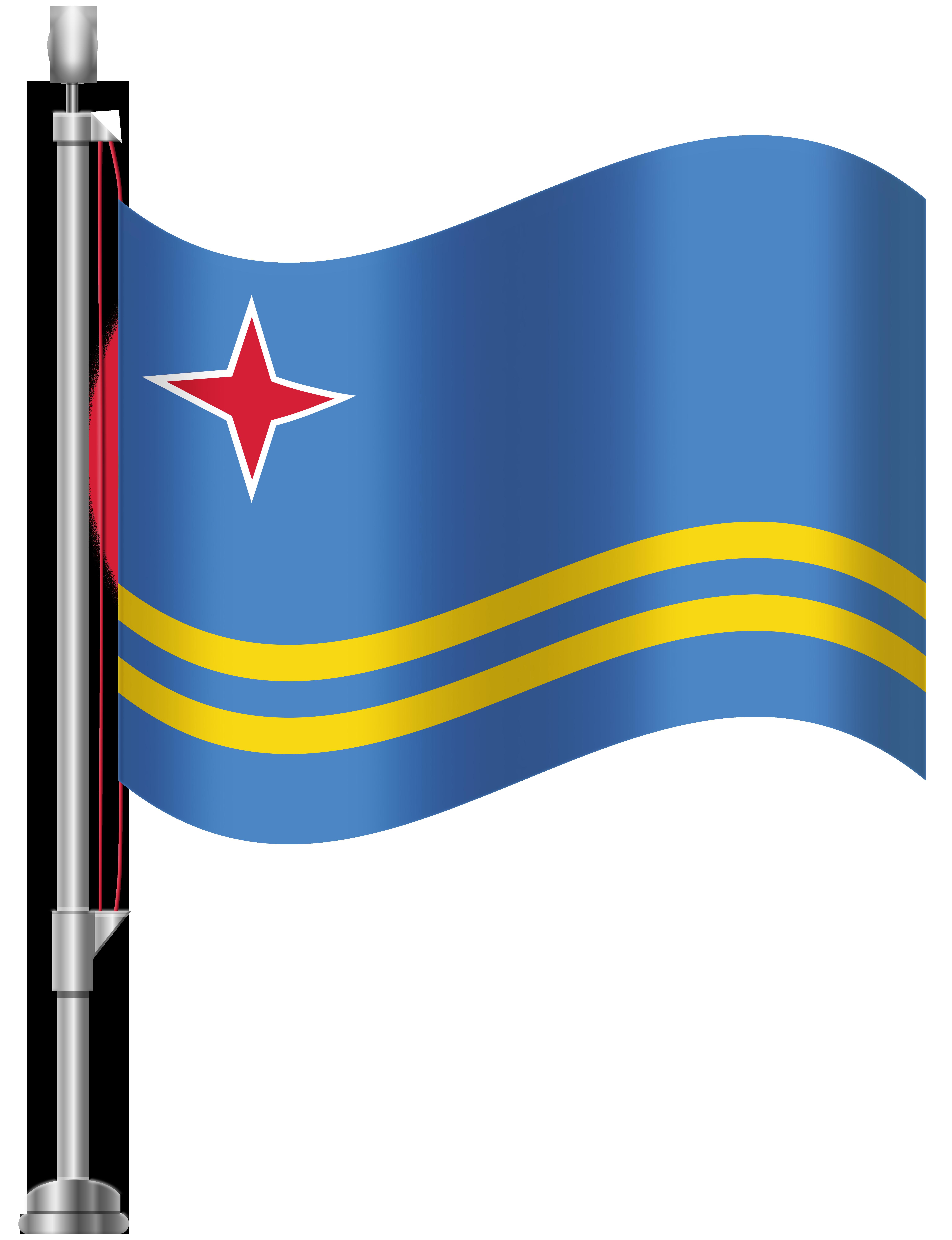 Aruba Flag PNG Clip Art.