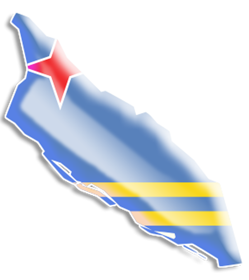 Clipart of flag of aruba.