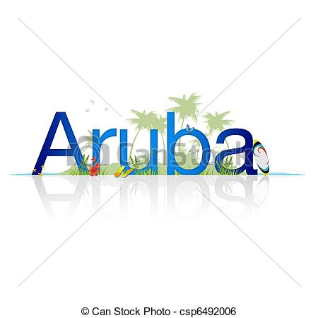Stock Image of Travel Aruba.