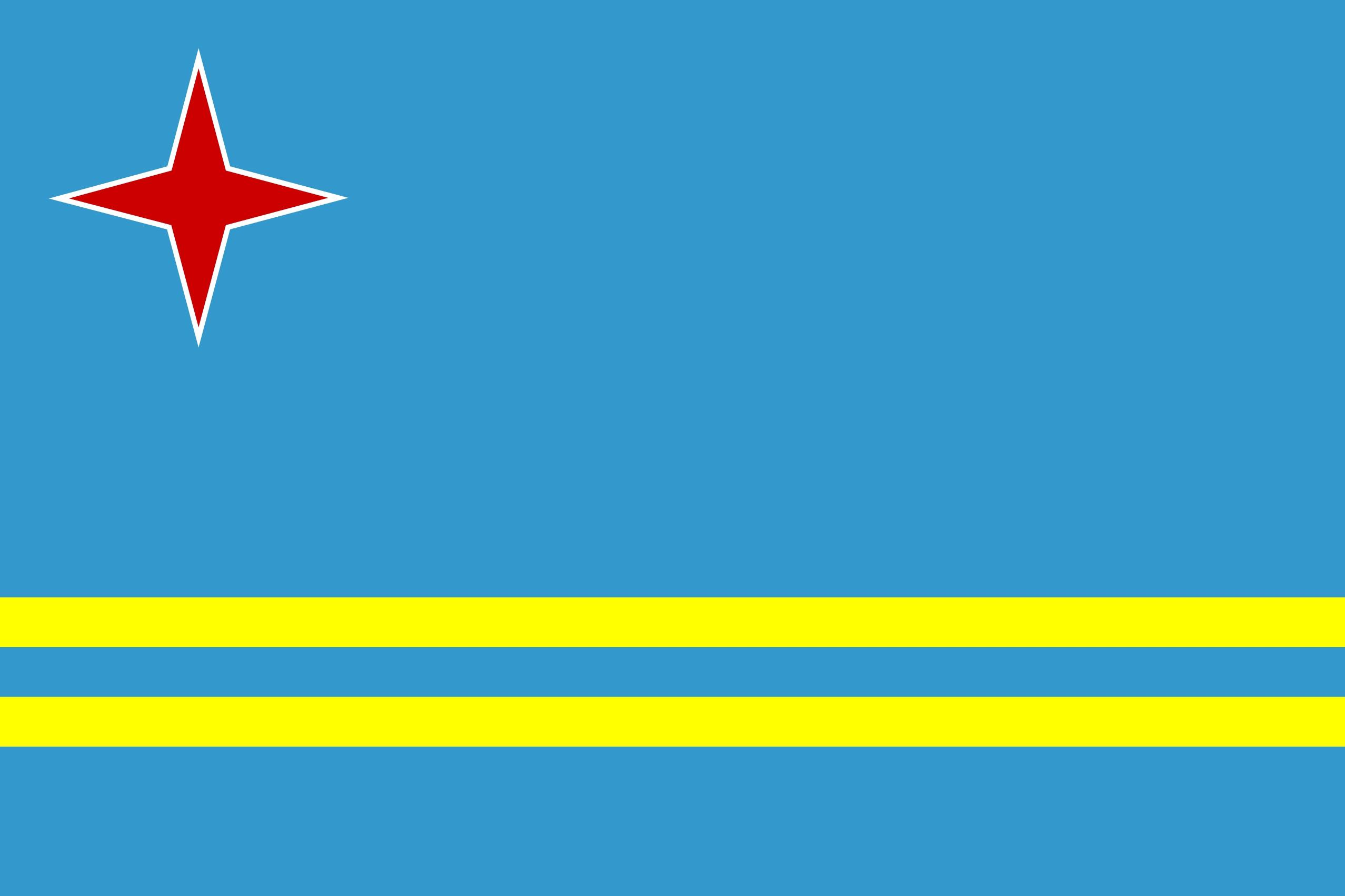 Clipart Svg Aruba Flag.
