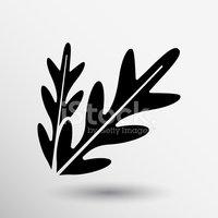 Arugula Foliage Logo Element Icon Food Vegetarian stock.