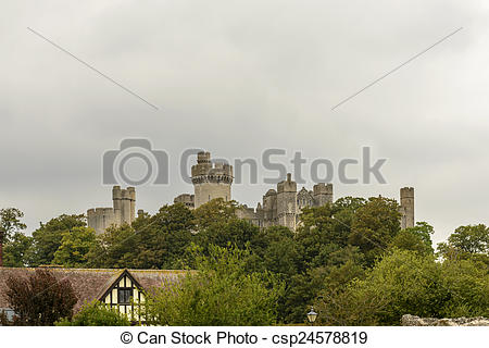 Stock Photography of Arundel castle skyline, West Sussex.