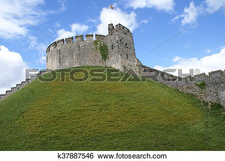 Stock Images of Arundel castle tower, England k37887546.