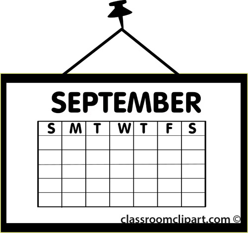 September calendar clipart west arundel creative arts.