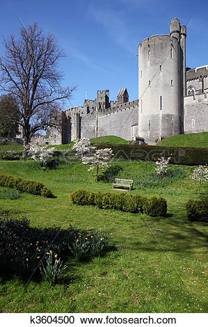 Stock Photography of Castle medieval English Arundel k3604500.