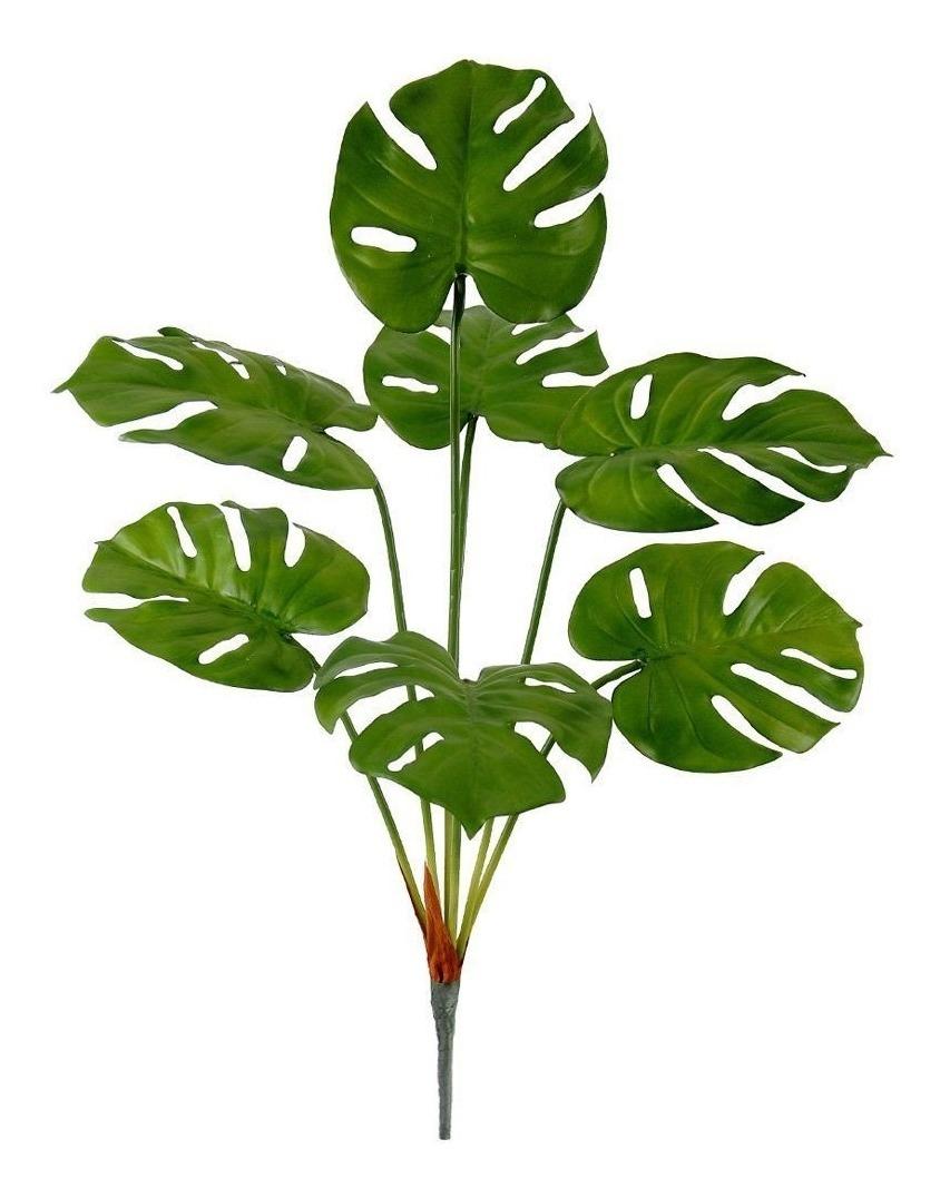 Árvore Artificial Costela De Adão 62 Cm Verde.