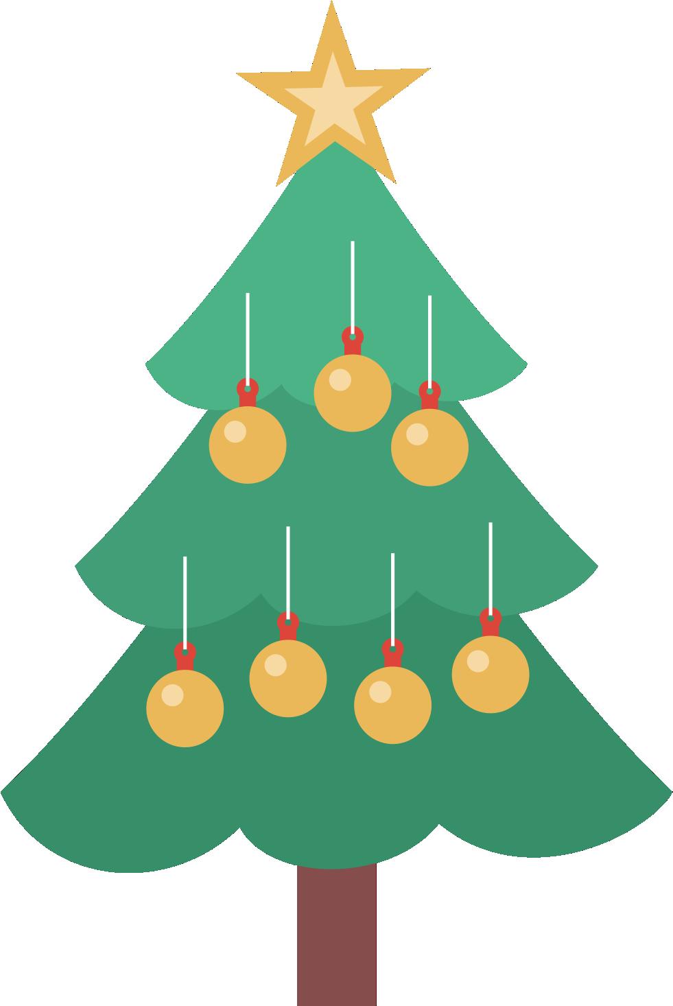 Enfeites de Natal.