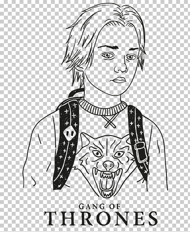 Game of Thrones Arya Stark Drawing Line art Character, Game.