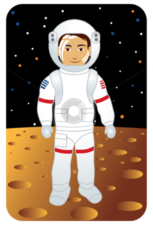 Astronaut And Moon Clipart.