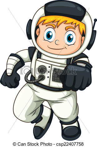 Clipart Vector of A male astronaut.