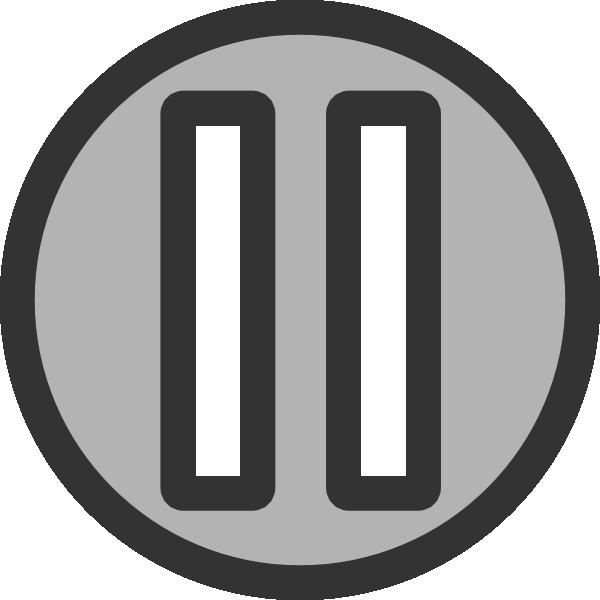 Clipart pause button.