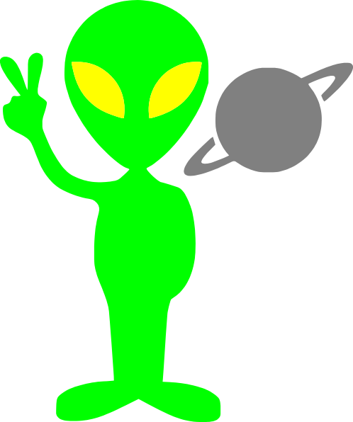 Cartoon Alien Clipart.