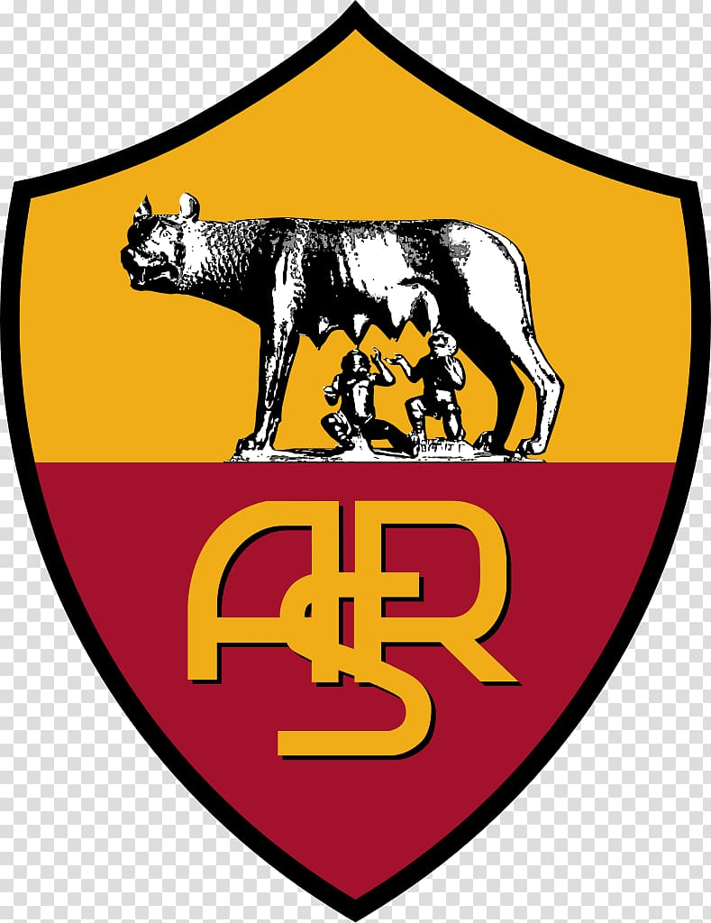 Brown and yellow ASR logo, Stadio Olimpico A.S. Roma Serie A.