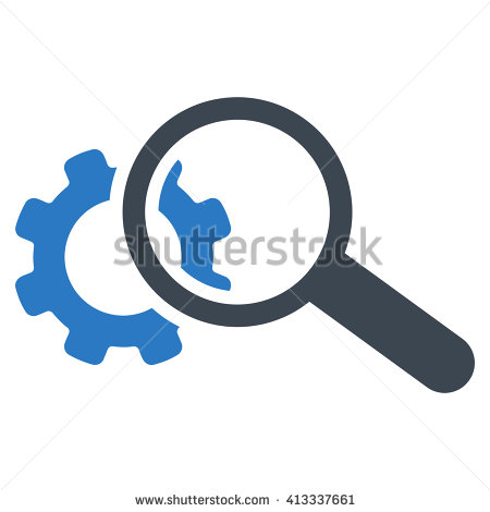Glass Magnifying Seo Search Elements Stock Photos, Royalty.