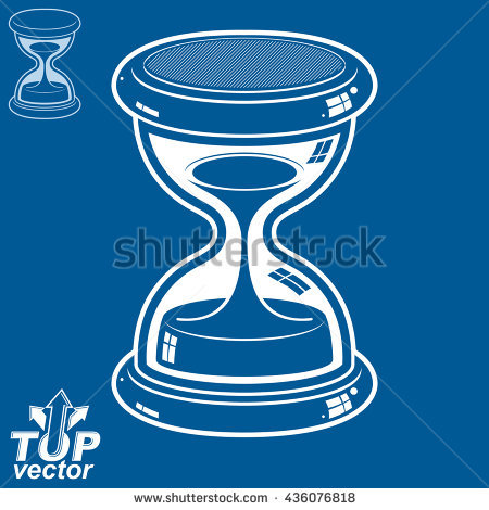 Hourglass Cartoon Doodle Stock Vector 185342537.