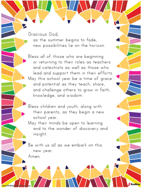 Back To School Prayer.