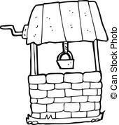 Vector Illustration of cartoon wishing well csp17741224.