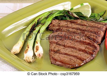 Stock Photographs of mexican carne asada plate.
