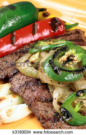 Stock Photo of mexican carne asada plate k3183034.
