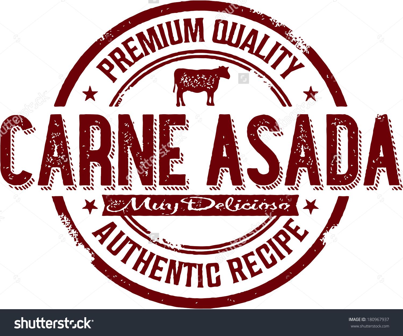 Vintage Carne Asada Mexican Food Menu Stock Vector 180967937.