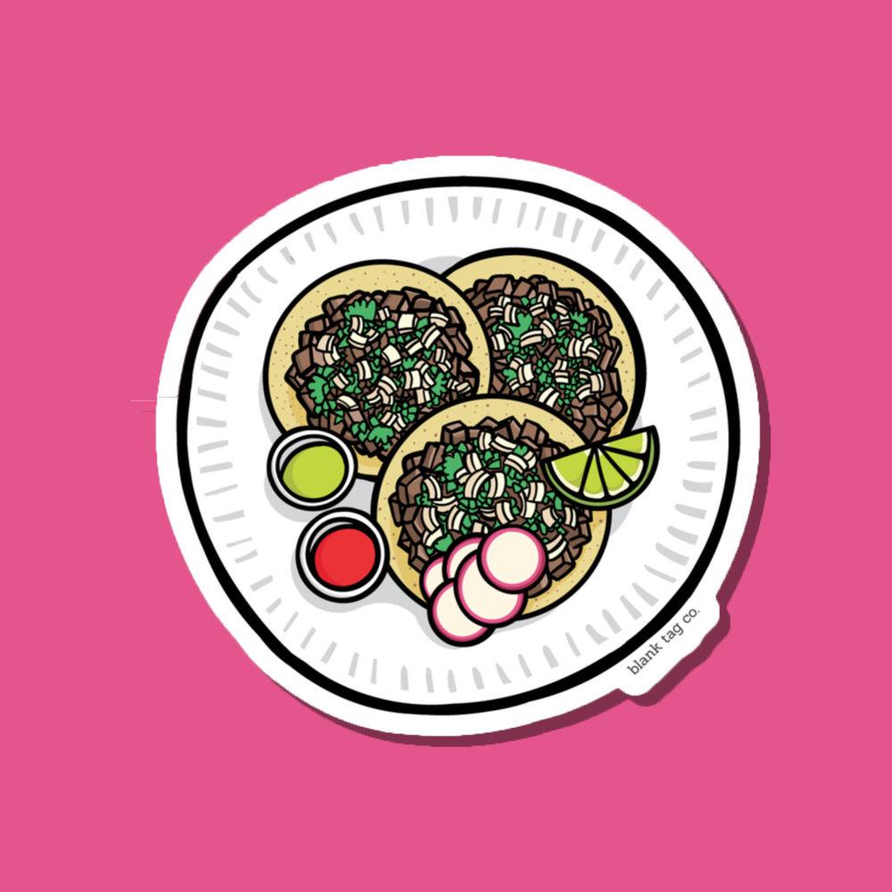 Tacos de Asada Sticker — Sticker Patrol.