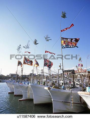 Stock Images of Iioka Fishing Port, Asahi, Chiba u11587406.