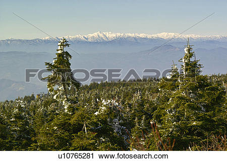 Stock Photography of Asahi mountain range from Mt. Zao, Yamagata.