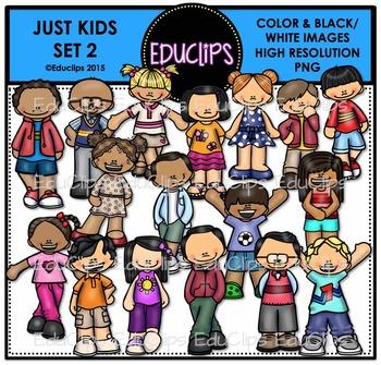 Just Kids 2 Clip Art Bundle {Educlips Clipart}.