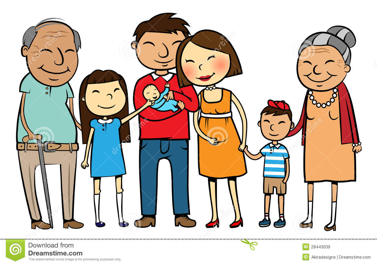 Asian Family Clipart.