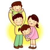 family clip art : A happy.