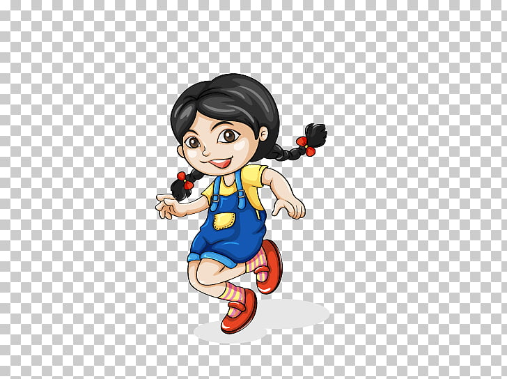 Asia Woman , Running girl PNG clipart.