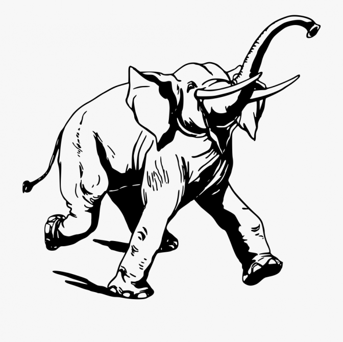 color pages ~ 280148 3 Drawing Elephant Running Clip Art.