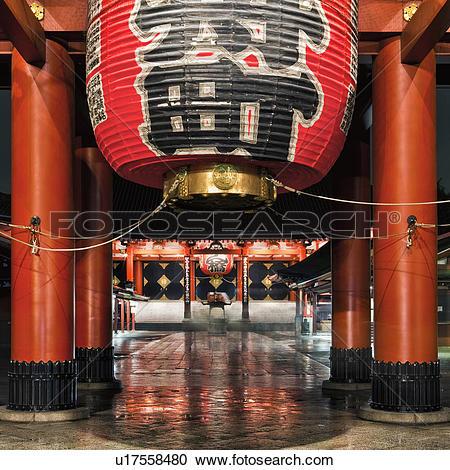 Stock Photography of Japan, Tokyo, Asakusa, Senso.