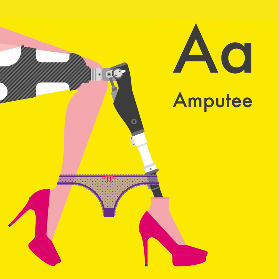 A for Amputee.