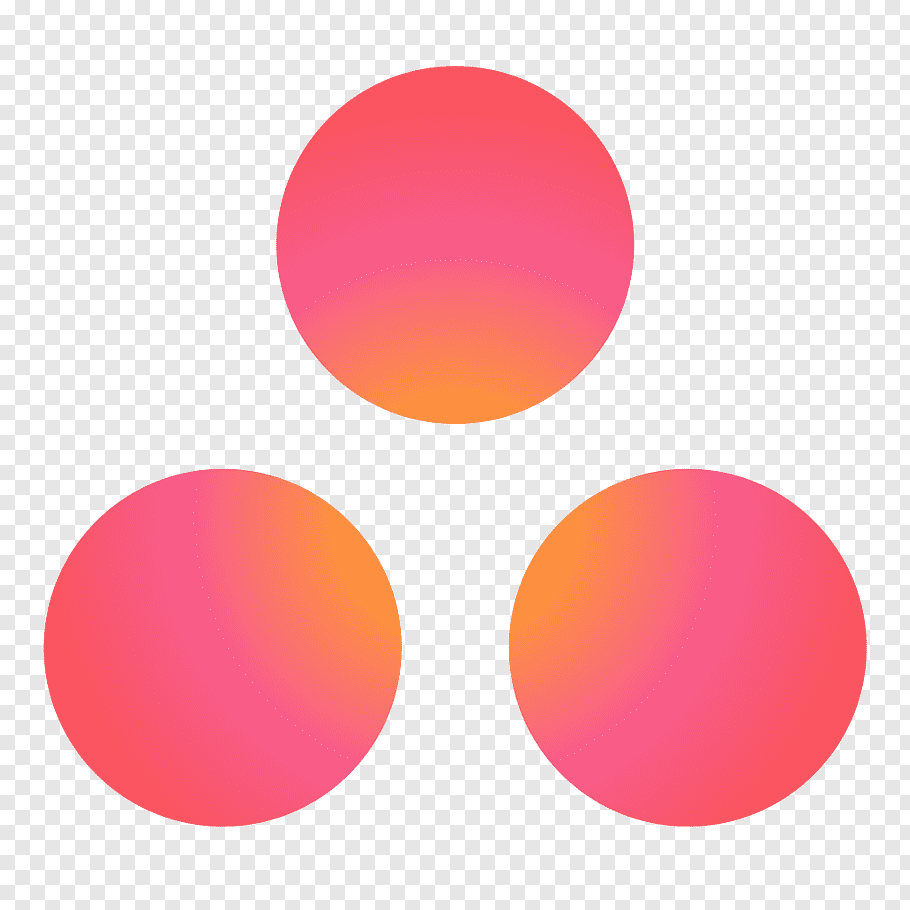 Three round red dots, Asana Logo Task Project management, or.