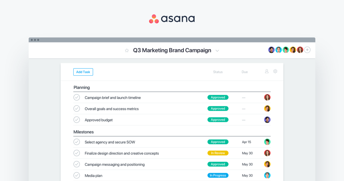 Asana logo and design styles · Asana.