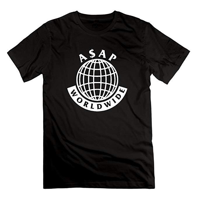 Pigou Polly Mens A$AP Mob Logo ASAP Rocky Lord Stylish Cotton Tshirt Short  Sleeve.