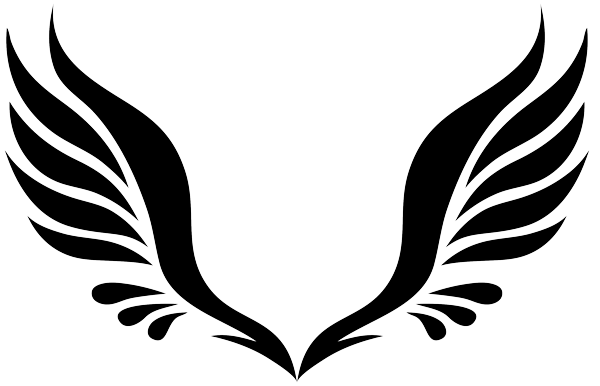 Simple Tribal Angel Wings.