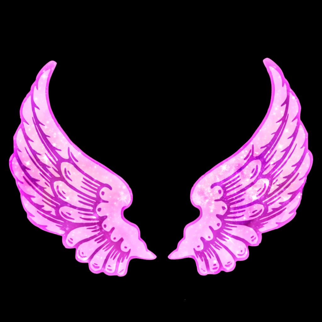 galaxy glitter star asas tumblr aesthetic pink wings.