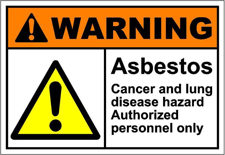 Asbestos Warning Clipart.