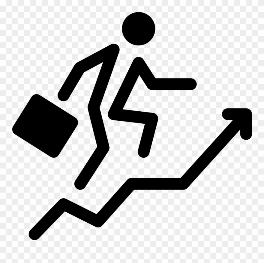 Businessman With Ascending Stair.